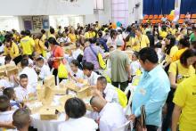 บรรยากาศการเลี้ยงอาหารกลางวันพิธีมอบทุนการศึกษามูลนิธิน่านฟ้าไทย