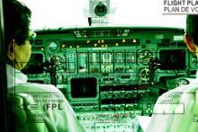 ภาพภายใน console ของนักบิน